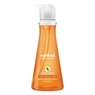 Method Dish Soap Clementine 18-ounce Pump Bottle 6/Carton
