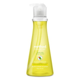 Method Dish Soap Lemon Mint 18-ounce Pump Bottle 6/Carton