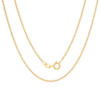 Sterling Essentials 14k White-and-yellow-gold Diamond-cut Round Wheat Chain ( 16-24 Inch )