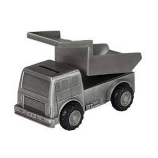 Heim Concept Pewter Plated Mining Truck Bank