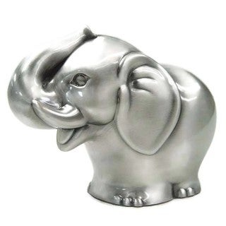 Heim Concept Pewter Plated Elephant bank