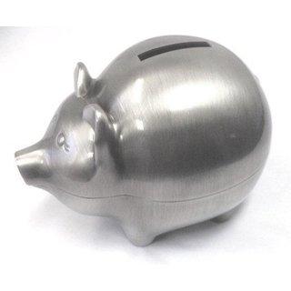 Elegance Pewter Plated Pig Bank