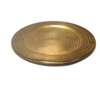 Elegance Gold Colour Charger Plate