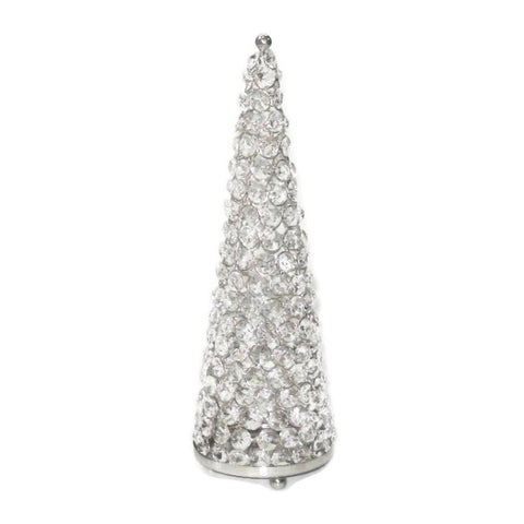 Heim Concept Large Sparkle Beaded Crystal Tree T-Light Holder, H: 13.5""