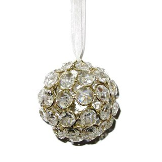 Elegance Crystal Ball Ornament - Gold Colour