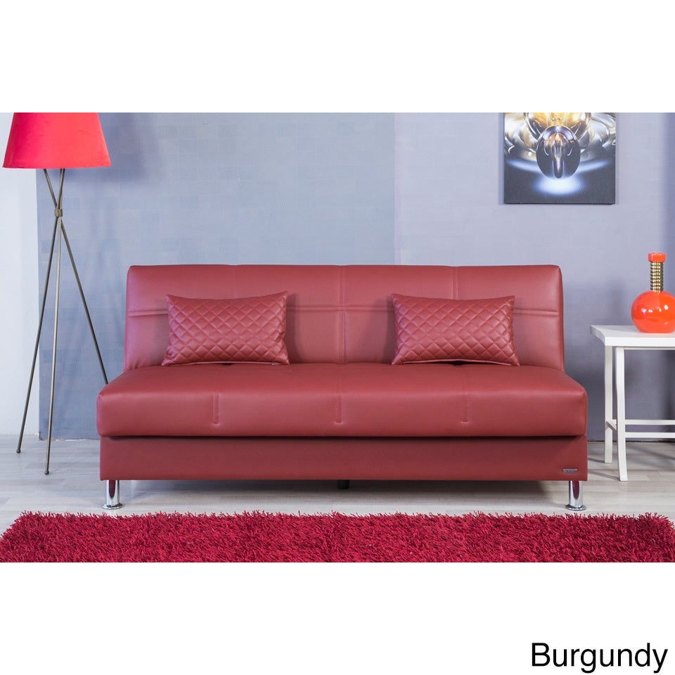 Eco Rest Contemporary Faux Leather Sleeper Sofa (Zen Burg...