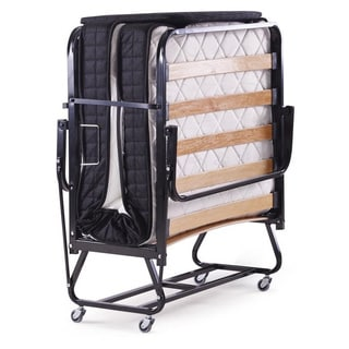 Five Star Guest Roll-away Folding Guest Bed with Twin-size Mattress