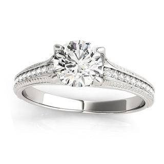 Transcendent Brilliance Antique Style Diamond Engagement Ring 1 1/6 TDW