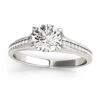 14k Gold 1 1/4 TDW Transcendent Brilliance Antique Style Diamond Engagement Ring