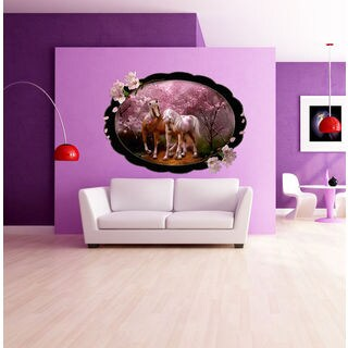 Full color Nature horse sticker, Nature horse Decal, wall art decal Sticker Decall size 44x60