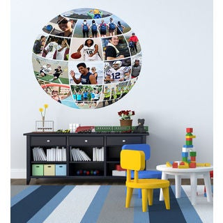 Full color Globe sport sticker, Globe sport Decal, wall art decal Sticker Decall size 48x48