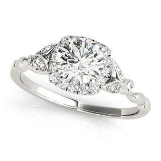 Transcendent Brilliance 14k Gold 1 1/10ct TDW Halo Diamond Engagement Ring