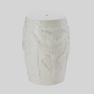 Marching Ponies Designed Ceramic Stool