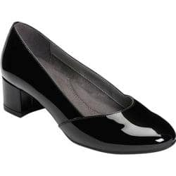 9dedeac7dd6 Women's Aerosoles Launchpad Pump Black Faux Patent | Overstock.com Shopping  - The Best Deals on Heels