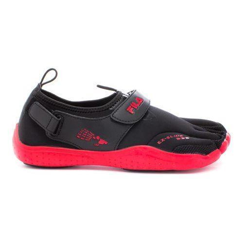Men's Fila Skele-Toes EZ Slide Drainage Black/Chinese Red/Castlerock - Thumbnail 1