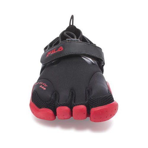 Men's Fila Skele-Toes EZ Slide Drainage Black/Chinese Red/Castlerock - Thumbnail 2
