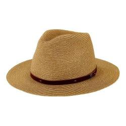 Men's San Diego Hat Company Mixed Paperbraid Fedora SDH3018 Natural