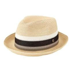 Men's San Diego Hat Company Paperbraid Pork Pie Homburg with Inset SDH3020 Natural