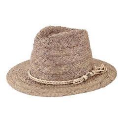 Women's San Diego Hat Company Raffia Fedora RHF6121 Grey