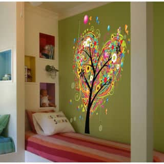 Full color Tree flowers heart sticker, Tree flowers Decal, art decal Sticker Decal size 33x45 https://ak1.ostkcdn.com/images/products/13911858/P20546562.jpg?impolicy=medium