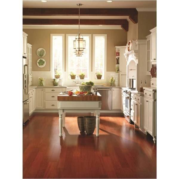 Shop Envi Ez Click Brazilian Cherry Hdf Hardwood Flooring Free