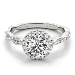 Transcendent Brilliance 14k Gold 7/8ct TDW Infinity Halo Diamond Engagement Ring