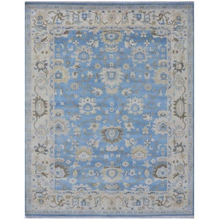 Herat Oriental Indo Hand-knotted Tribal Oushak Wool Rug (8'3 x 10')