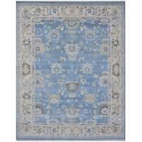 Handmade Herat Oriental Indo Tribal Oushak Wool Rug (India) - 8'3 x 10'