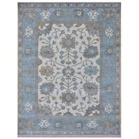 Herat Oriental Indo Hand-knotted Tribal Oushak Wool Rug (8'3 x 10'4)