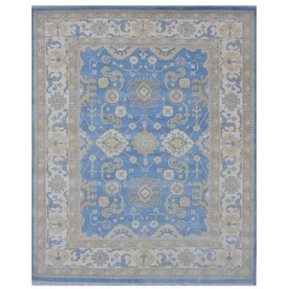 Herat Oriental Indo Hand-knotted Tribal Oushak Wool Rug (8'3 x 10'2)