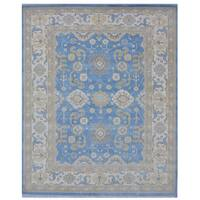 Handmade Herat Oriental Indo Tribal Oushak Wool Rug - 8'3 x 10'2 (India)