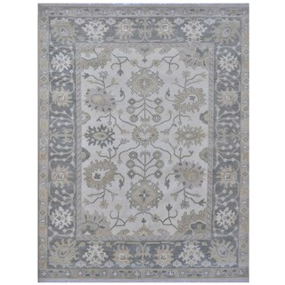 Herat Oriental Indo Hand-knotted Tribal Oushak Wool Rug (8'1 x 10'1)