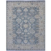 Herat Oriental Indo Hand-knotted Tribal Oushak Wool Rug (8'1 x 10'2)