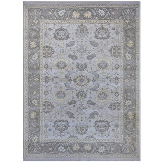 Herat Oriental Indo Hand-knotted Tribal Oushak Wool Rug (9'4 x 12'2)