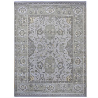 Herat Oriental Indo Hand-knotted Tribal Oushak Wool Rug (9'4 x 11'10)