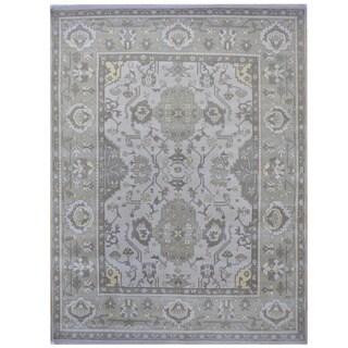Handmade Herat Oriental Indo Tribal Oushak Wool Rug (India) - 9'4 x 11'10