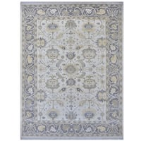 Herat Oriental Indo Hand-knotted Tribal Oushak Wool Rug (9'4 x 12')