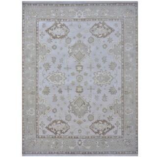 Handmade One-of-a-Kind Oushak Wool Rug (India) - 9'2 x 11'10