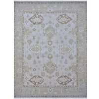 Herat Oriental Indo Hand-knotted Tribal Oushak Wool Rug (9'2 x 11'10)