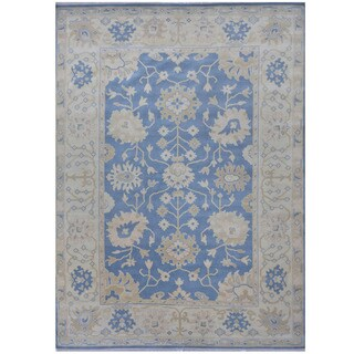 Herat Oriental Indo Hand-knotted Tribal Oushak Wool Rug (9'2 x 12'4)