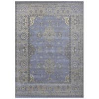 Herat Oriental Indo Hand-knotted Tribal Oushak Wool Rug (9'4 x 12'4)