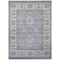 Handmade Herat Oriental Indo Tribal Oushak Wool Rug (India) - 9'4 x 12'3