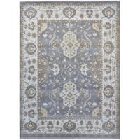 Herat Oriental Indo Hand-knotted Tribal Oushak Wool Rug (9'1 x 12'3)