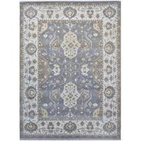 Herat Oriental Indo Hand-knotted Tribal Oushak Wool Rug - 9'1 x 12'3