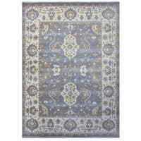 Herat Oriental Indo Hand-knotted Tribal Oushak Wool Rug (9'3 x 12'3)