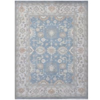 Herat Oriental Indo Hand-knotted Tribal Oushak Wool Rug (9'2 x 11'11)