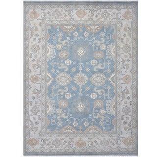 Handmade Herat Oriental Indo Tribal Oushak Wool Rug (India) - 9'2 x 11'11