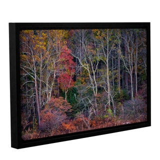 Tom Croce's ' Autumn Forest 2' Gallery Wrapped Floater-framed Canvas
