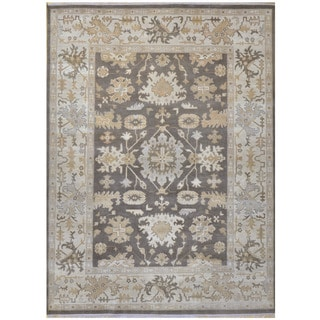 Herat Oriental Indo Hand-knotted Tribal Oushak Wool Rug (9'2 x 12')
