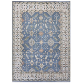 Herat Oriental Indo Hand-knotted Tribal Oushak Wool Rug (9'1 x 12'1)